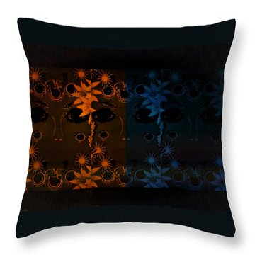 Mother Nature Throw Pillow by Sherry Flaker
