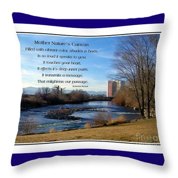 Throw Pillow featuring the photograph Mother Natures Canvas by Bobbee Rickard