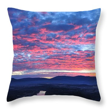 Throw Pillow featuring the photograph Mother Nature's Paint Brush by Lara Ellis