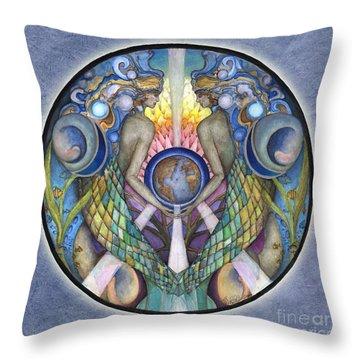 Mother Ocean Mandala Throw Pillow