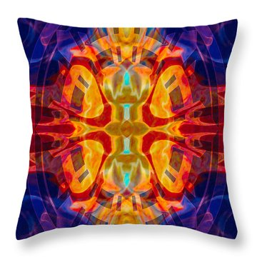 Mother Of Eternity Abstract Living Artwork Throw Pillow