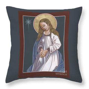 Mother Of God Waiting In Adoration 248 Throw Pillow