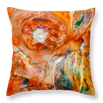 Throw Pillow featuring the painting Mother Of Pearl by  Heidi Scott
