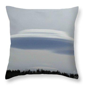Mother Ship Throw Pillow by Fiona Kennard