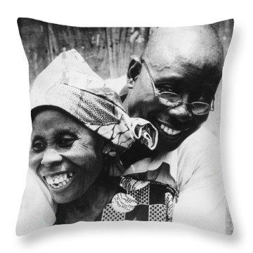 Mother Son Reunion Throw Pillow