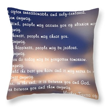 Mother Teresa Of Calcutta Throw Pillow
