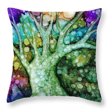 Mother Tree Throw Pillow
