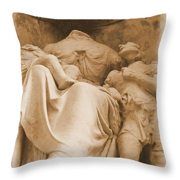 Throw Pillow featuring the photograph Mother With Children by Nadalyn Larsen