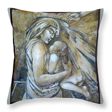 Motherhood 2 Throw Pillow