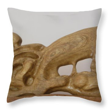 Motherhood Throw Pillow by Esther Newman-Cohen