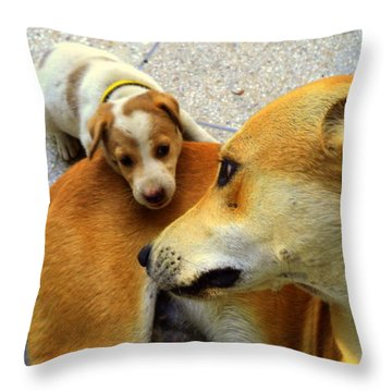 Mother's Affection Throw Pillow