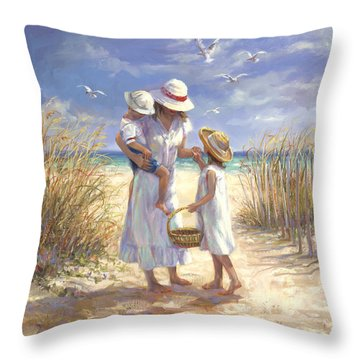Mothers Day Beach Throw Pillow