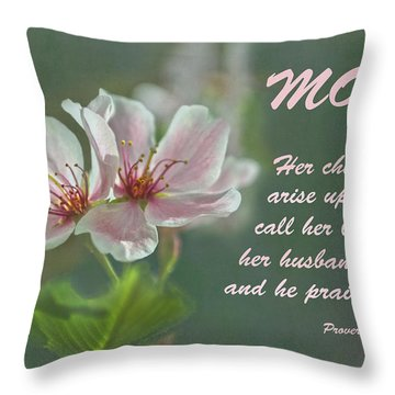 Mothers Day Card For Mom Throw Pillow by Sandi OReilly