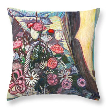 Mothers Day Gift Throw Pillow by Kendall Kessler