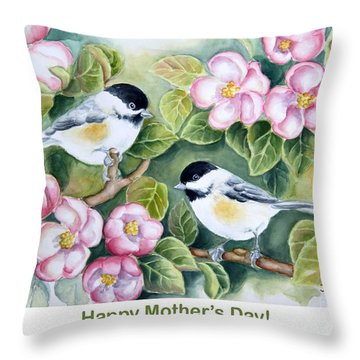 Mother's Day Greeting Card Throw Pillow