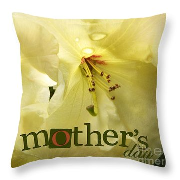 Throw Pillow featuring the photograph Mothers Day by Jean OKeeffe Macro Abundance Art