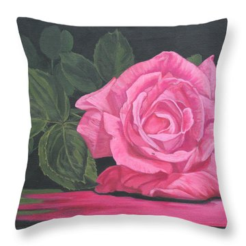Mothers Day Rose Throw Pillow by Wendy Shoults