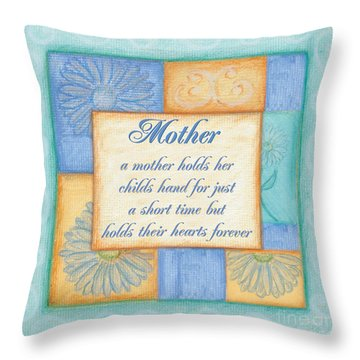 Mother's Day Spa Throw Pillow by Debbie DeWitt