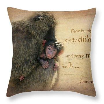 Mother's Love Throw Pillow by Barbara Orenya