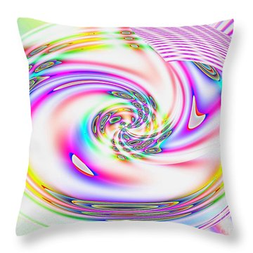 Throw Pillow featuring the digital art Mother's Love Modern Abstract Art by Annie Zeno