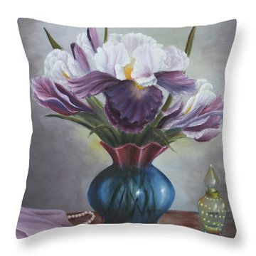 Mother's Memories Throw Pillow