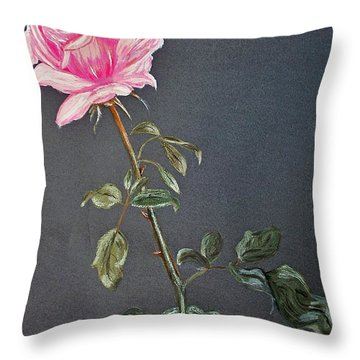 Mothers Rose Throw Pillow by Nina Ficur Feenan