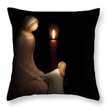 Throw Pillow featuring the photograph Mother's Touch by Cecil Fuselier