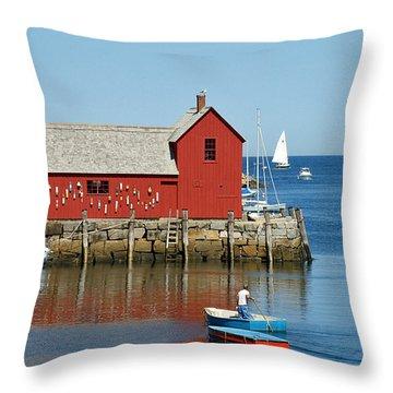 Rockport's Motif #1 Throw Pillow
