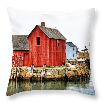 Motif Number 1 Rockport Ma Throw Pillow
