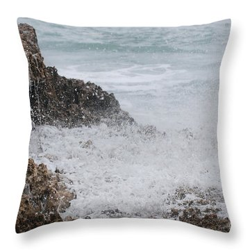 Motion On The Ocean Throw Pillow by George Mount