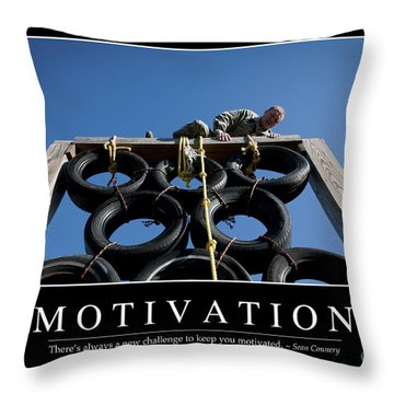 Motivation Inspirational Quote Throw Pillow by Stocktrek Images