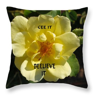 Throw Pillow featuring the photograph Motivational by Bob Sample