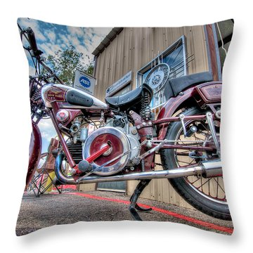 Moto Guzzi Classic Throw Pillow