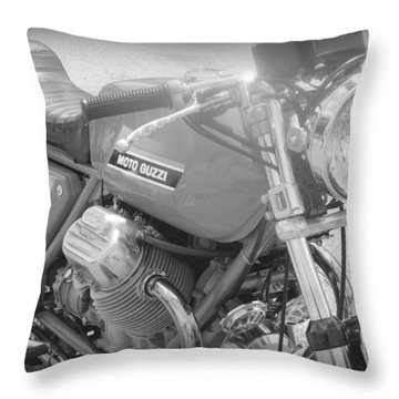 Moto Guzzi I Throw Pillow