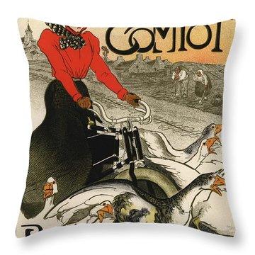 Motocycles Comiot Throw Pillow