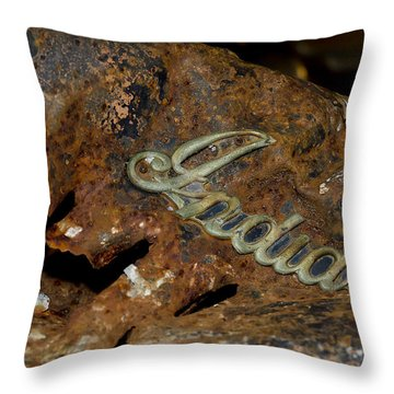 Motorcycle Axe Murderer Throw Pillow by Wilma  Birdwell