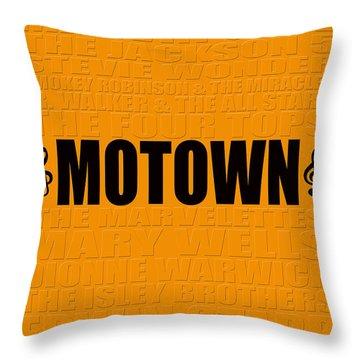 Motown Throw Pillow