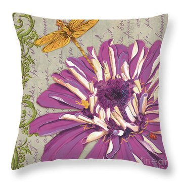 Moulin Floral 2 Throw Pillow by Debbie DeWitt