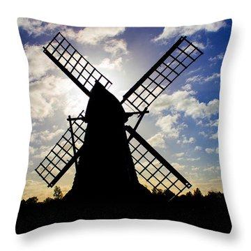 Moulin Noir Throw Pillow