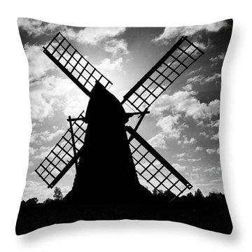 Moulin Noir- Monochrome Throw Pillow