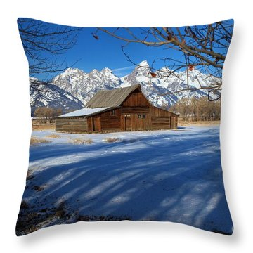Moulton Barn Throw Pillow by Adam Jewell