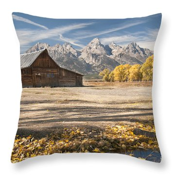 Moulton Barn Autumn Throw Pillow