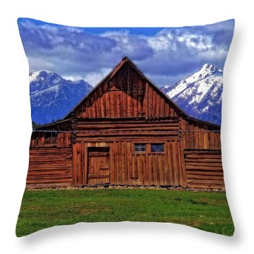 Moulton Barn In Spring Throw Pillow by Dan Sproul