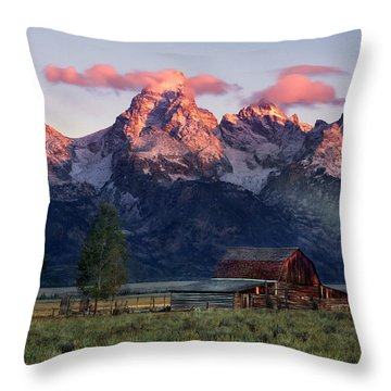 Throw Pillow featuring the photograph Moulton Barn by Leland D Howard