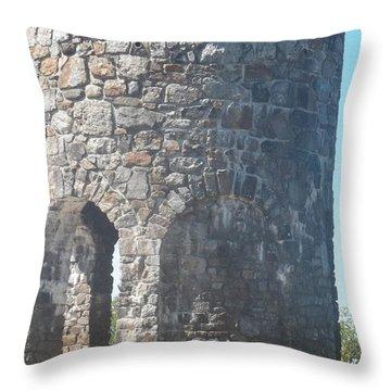 Mount Battie Stone Tower II Throw Pillow