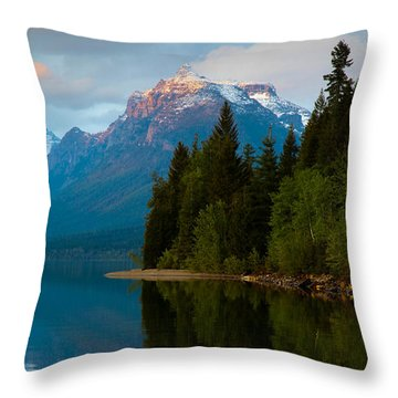 Mount Cannon Throw Pillow by Aaron Aldrich