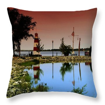 Mount Dora Lighthouse Throw Pillow