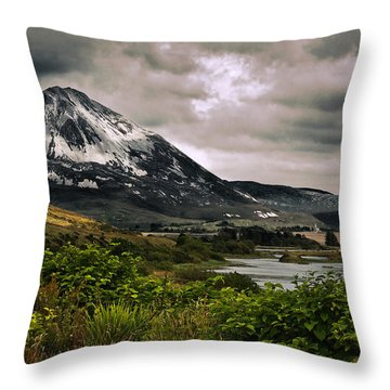 Throw Pillow featuring the photograph Mount Errigal by Jane McIlroy