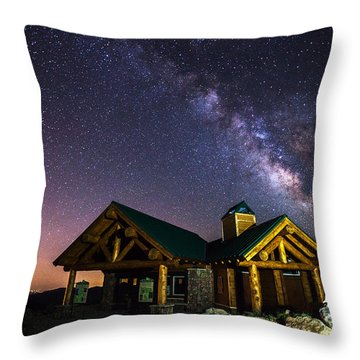 Mount Evans Visitor Cabin Throw Pillow