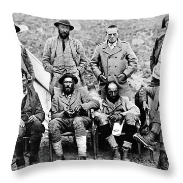 Mount Everest Expedition Throw Pillow
